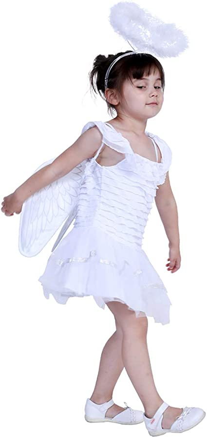 WWSSJD Disfraz de Angel para Niños Víspera de Todos los Santos ...