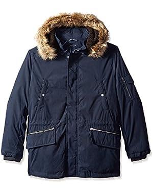 Men's Biblend Parka with Faux Fur Jacket