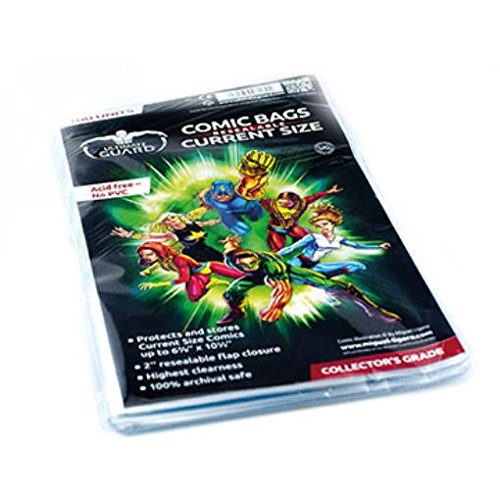 Comic Bags - Current, Resealable (10 Packs of 100) by Comic Bags & Backing Boards Ultimate Guard