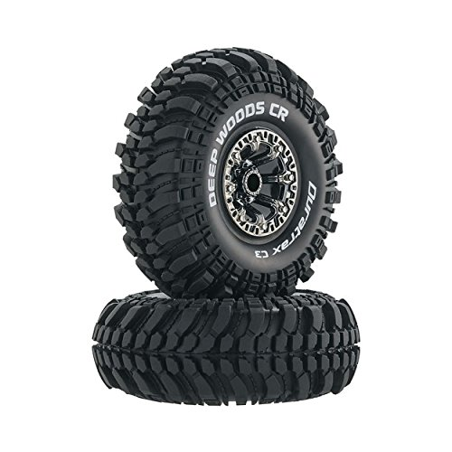 (Duratrax Deep Woods RC Rock Crawler Tires with Foam Inserts, C3 Super Soft Compound, High Traction, 2.2