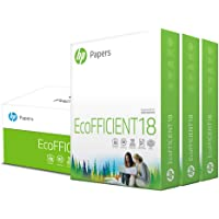 HP Printer Paper | 8.5 x 11 Paper | EcoFFICIENT 18 lb | 3 Ream Case - 1500 Sheets | 92 Bright | Made in USA - FSC…