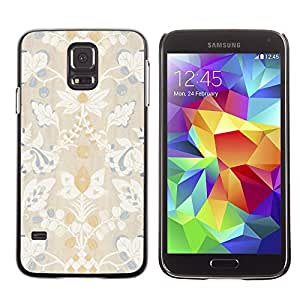 Plastic Shell Protective Case Cover || Samsung Galaxy S5 SM-G900 || Blue White Flower Floral Rustic Vintage @XPTECH