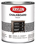 Krylon K05223000 Chalkboard Paint Special Purpose Brush, Black, Quart