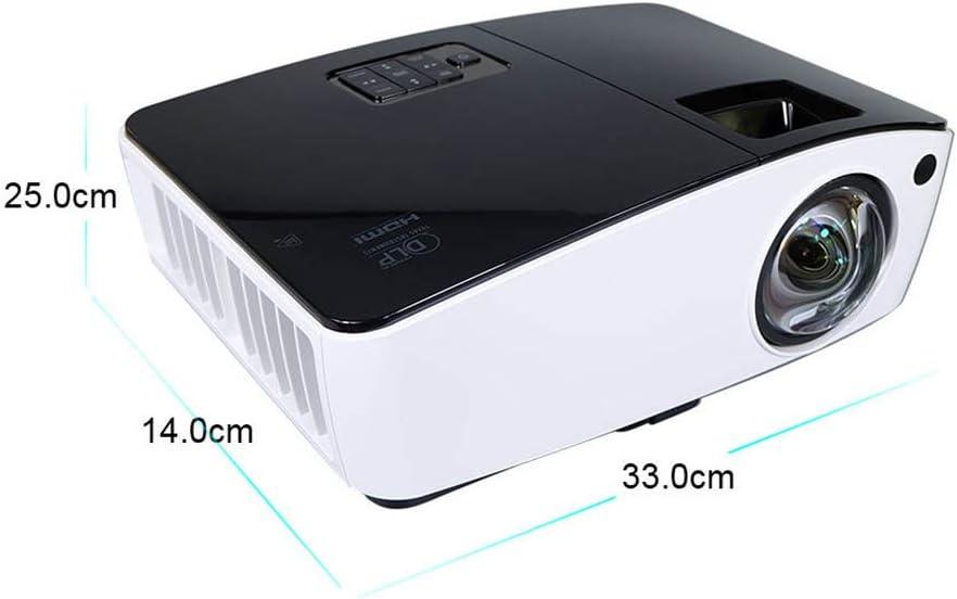 Ydq Proyector Full HD, 720P 4000 Lúmenes Multifunción Pantalla Grande Foco Corto HD Proyector Portátil Oficina Soporte para El Hogar Teléfono Inteligente/DV / PC/Laptop: Amazon.es: Electrónica