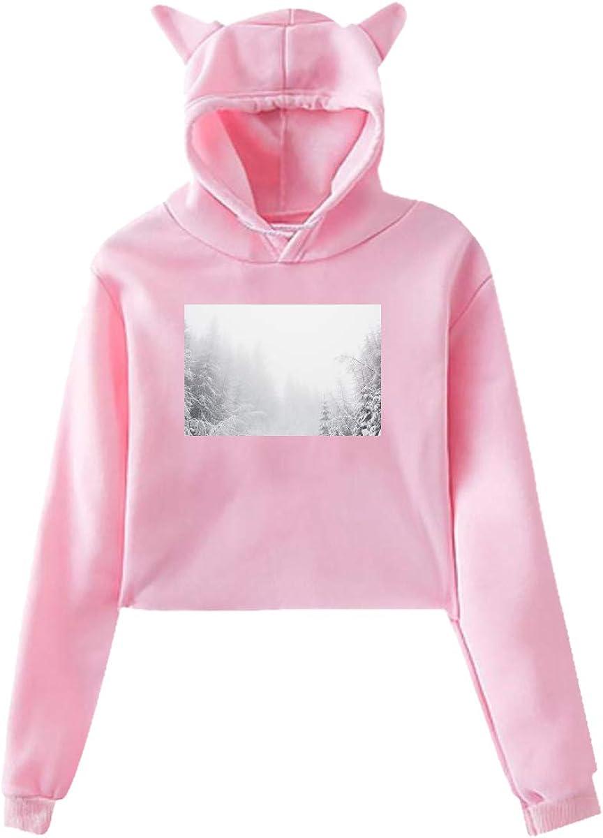 Personality Girl Cat Ears Umbilical Hoodie Fashion Sweatshirt Sweater