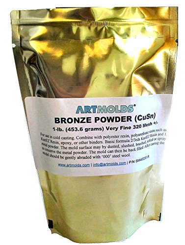 Bronze Powder 325-mesh 1lb -- Use for Cold Casting and Inlay Work (Metal Resin)