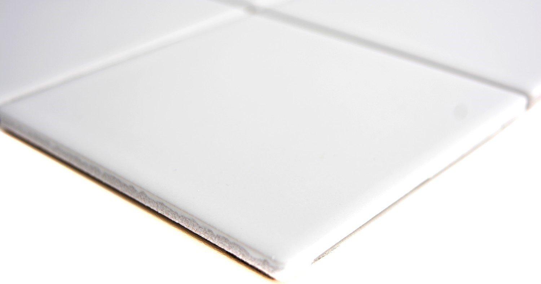 mosaico azulejos cer/ámica color blanco mate para suelo pared ba/ño inodoro ducha cocina azulejos Espejo Mostradores cubierta para ba/ñera Mosaico Matte mosaico placa 1/Matte