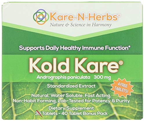 Kare n Herbs, Kold Kare, 300 mg, 40 Tablets, Pack of 5 by Kare-N-Herbs