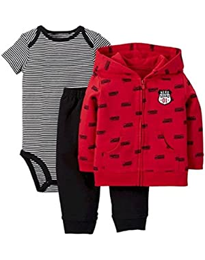 Carter's Just One You Baby Boys' 3 Piece Hero Squad Set - Red