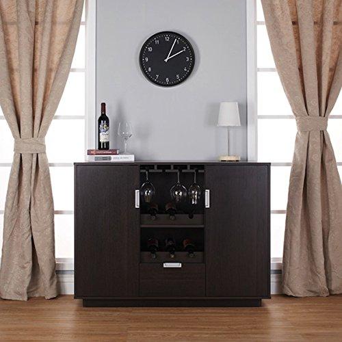 Collection Hardwood Dining Room Server (Brown Wood Sivira Modern Espresso Multi-Storage Dining Buffet)