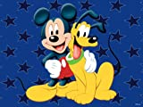 Mickey and Pluto Huge Area Rug