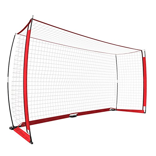 Portable Soccer Net Stable Soccer Goal Net 12x6 ft with Carrying Bag by Mewalker