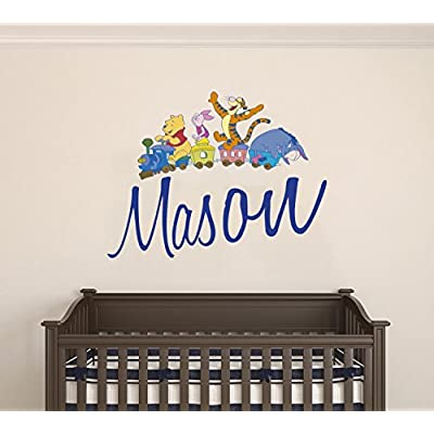 Winnie The Pooh and Friends Custom Name Wall Decal - Personalized Nursery Name -Wall Decal for Nursery Decoration playroom Decoration (Wide 20