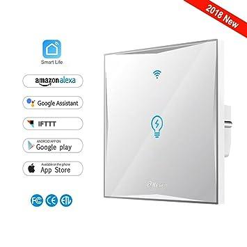 Smart Lichtschalter, drahtlose Schalter Wi-Fi-Lichtschalter ...