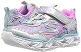 Skechers Kids' Galaxy Lights Sneaker,silver/multi,8