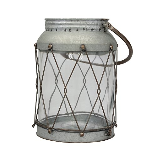 Stonebriar American Adventure Large Metal Lantern with Handle