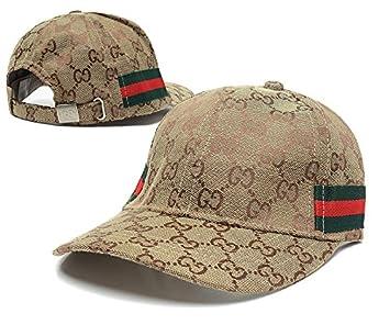 d05dd428 Amazon.com : Gucci Adjustable Snapback Caps of gucci caps for men£¬gucci cap  for women of Brown horizontal stripes : Beauty