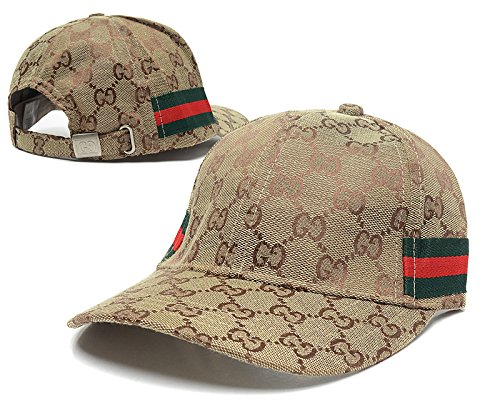 1f4c902eca8 Amazon.com   Gucci Adjustable Snapback Caps of gucci caps for men£¬gucci cap  for women of Brown horizontal stripes   Beauty