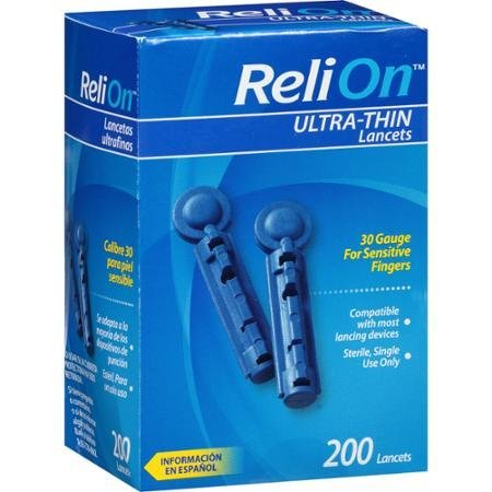 ReliOn Ultra-Thin Lancets, 200 count