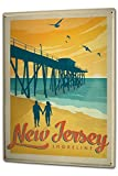 Tin Sign XXL Travel Kitchen New Jersey Shore Line