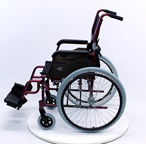 Karman LT-980-BD 24 Pound Ultra Lightweight Wheelchair, Burgundy