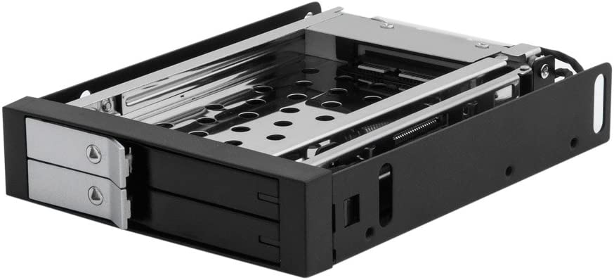 "Kingwin SSD/HDD Internal SATA Tray-Less Hot Swap Mobile Rack for Dual 2.5"" SSD/HDD. Hard Drive Backplane Enclosure,Support SATA I/II/III & SAS I/II 6 Gbps Performance and [Optimized for 2.5"" SSD/HDD]"