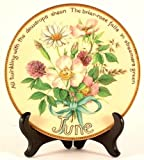 Davenport June plate by Edith Holden - Inspired by The Country Diary of an Edwardian Lady - CP902
