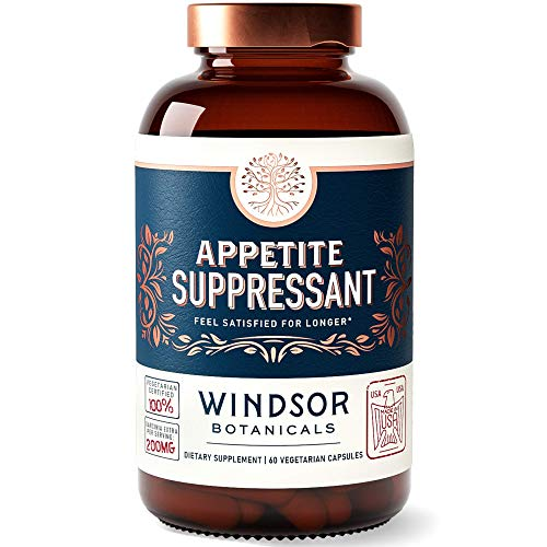 Appetite Suppressant for Weight Loss – Windsor Botanicals High-Potency Formula – Feel Fuller Faster and Satisfied for…
