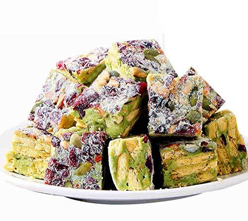- OUZ123 Leisure Snack Food Biscuit Nougat Crisp Pastry Sachima Matcha Flavor Xue Hua Su 雪花酥 170g/6oz