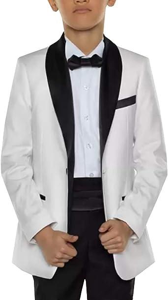 Blue Boys Toddler Kid Teen 5-PC Wedding Formal Party Suit Tuxedo w// Vest sz 2-20
