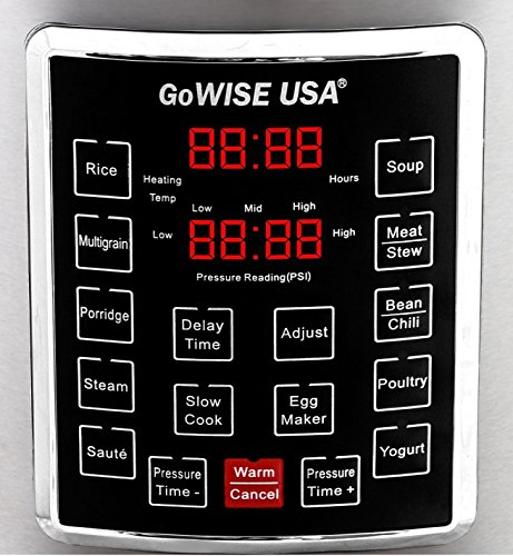 Gowise usa 8 quart programmable 10 in 1 electric pressure for Gowise usa
