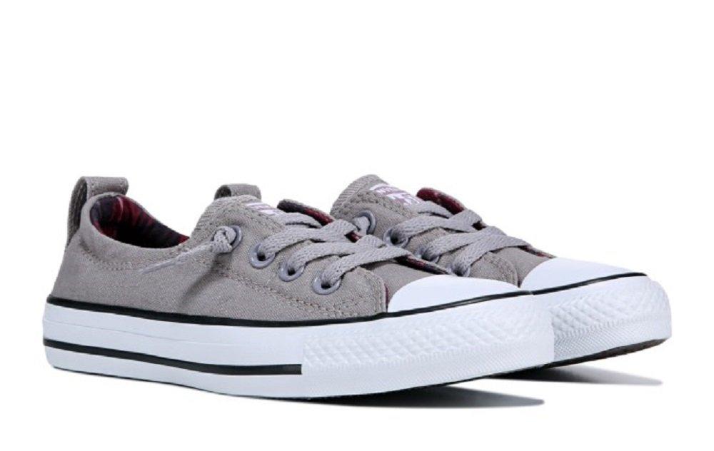 Converse Women's Shoreline Slip On Sneaker (8 B(M) US, Mercury Grey/White/Black)