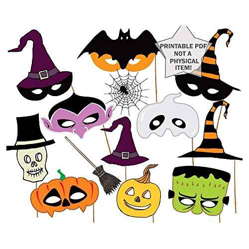Halloween Photo Booth Props 14Pcs for Halloween -