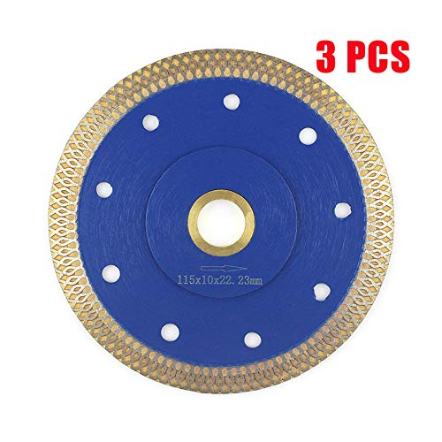 - 4.5 Inch Tile Blade,Stylish Y&I Porcelain Blade Super Thin Ceramic Diamond Saw Blades for Grinder Dry or Wet Tile Cutter Disc With Adapter 7/8