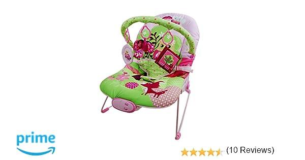 Just4baby Transat à bascule musical et à vibration avec 3 jouets à ...