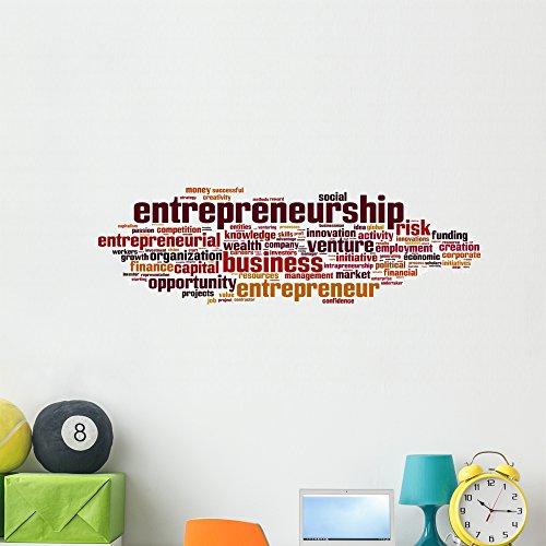 Wallmonkeys Entrepreneurship Word Cloud Wall Decal Peel and Stick Business Graphics (48 in W x 15 in H) WM209978 by Wallmonkeys