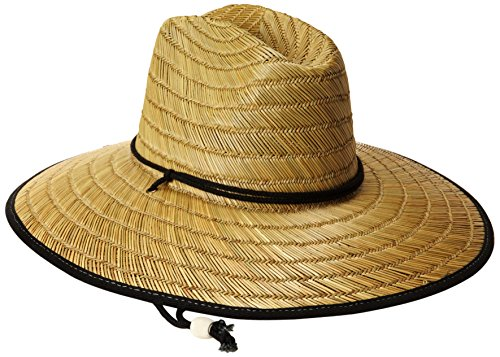 San Diego Hat Co. Men's Raffia and Straw Sun Hat, Natural/Black, One Size