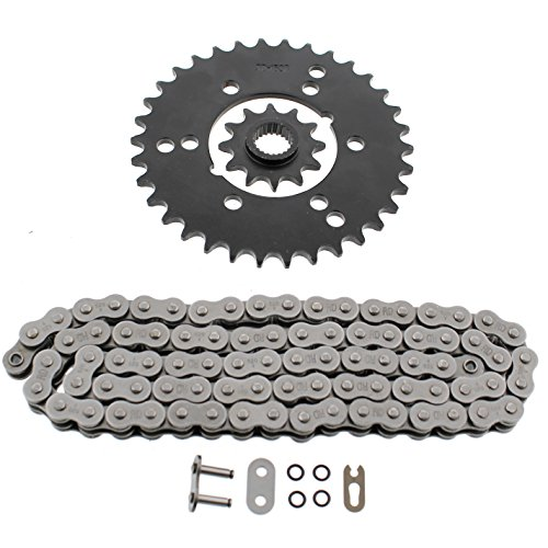 (1993 Polaris Trail Boss 350L 4x4 O Ring Chain & Rear Sprocket Set 12/34-84L)