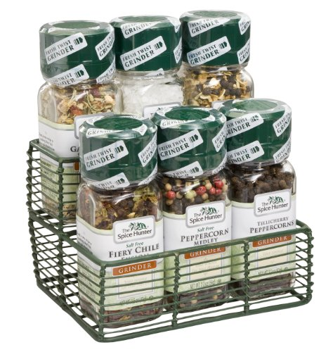 Spice Hunter Gift Set, Grinders Mini-Rack, 13.7-Ounce
