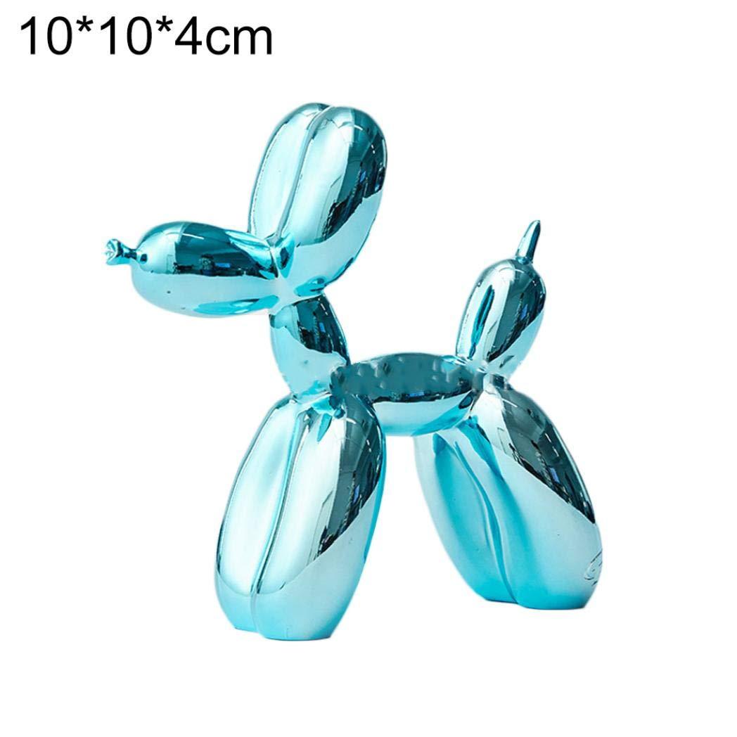 Azul 10 x 10 x 4 cm dise/ño de Globo 10 x 10 x 4 cm litty089 Estatua Decorativa de Resina Color Azul Blue 10 * 10 * 4cm