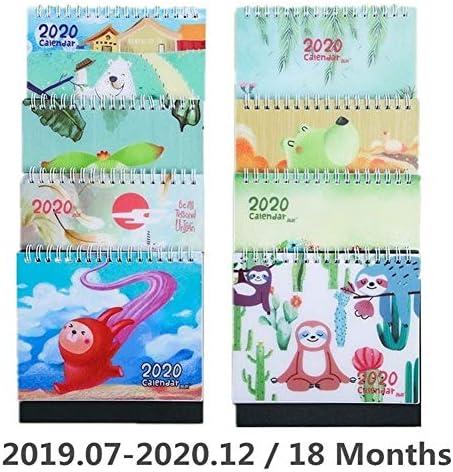 Tischkalender Kalendarien 2020 Netter Sloth Tiere Tischkalender Tagesplan Tabelle Planer Bürobedarf 2019,07~2020,12 (Color : 8)