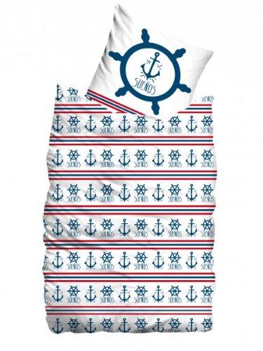 suenos bed linen guyb rush white blue threepw cotton white 155