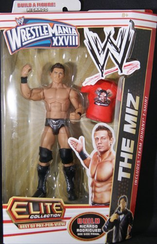 "WWE Elite Collection Best Of Pay-Per-View Wrestlemania XXVIII ""The Miz"" With Ricardo Rodriguez Build A Figure Piece"