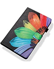 Ostop Compatible with iPad 10.2 2019 Tablet Case,Slim Stand Folio Cover PU Leather Flip Wallet Smart Case with Auto Sleep/Wake and Pencil Holder for iPad 10.2 2019,Colorful Sunflower