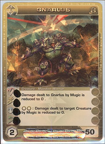 GNARLUS Chaotic Super Rare Foil Card MAX ENERGY STAT OF 50 Silent Sands