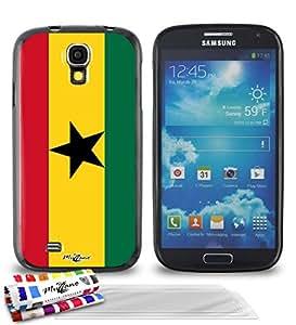 """Carcasa Flexible Ultra-Slim SAMSUNG GALAXY S4 ADVANCE de exclusivo motivo [Ghana Bandera] [Negra] de MUZZANO  + 3 Pelliculas de Pantalla """"UltraClear"""" + ESTILETE y PAÑO MUZZANO REGALADOS - La Protección Antigolpes ULTIMA, ELEGANTE Y DURADERA para su SAMSUNG GALAXY S4 ADVANCE"""