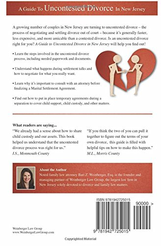 A Guide To Uncontested Divorce In New Jersey Family Law New Jersey