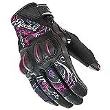Joe Rocket Cyntek Womens Mesh On-Road Motorcycle Leather Gloves - Eye Candy / Large