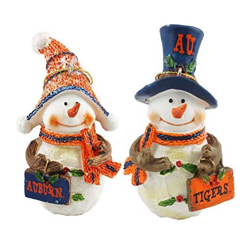 Ornaments Tigers Auburn - Hanna's Handiworks Auburn Tigers Collegiate Snowman Christmas Ornaments