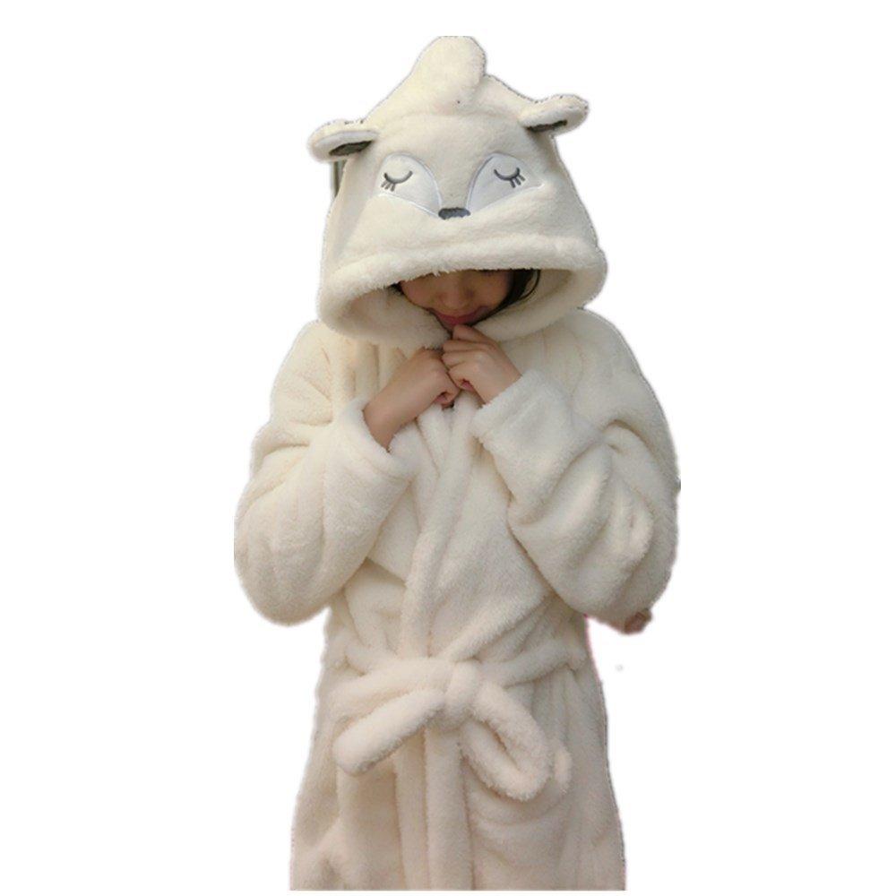 Woneart Albornoz para Mujer Ni/ña Camisones Novedad Disfraz de Peluche Animales Ropa De Dormir con Capucha Batas Loungewear Costume Halloween Carnaval